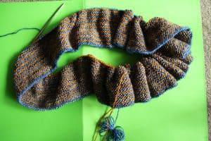 Garter Stole Knit