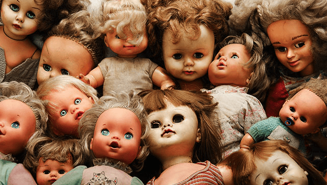 creepy doll sculpture art