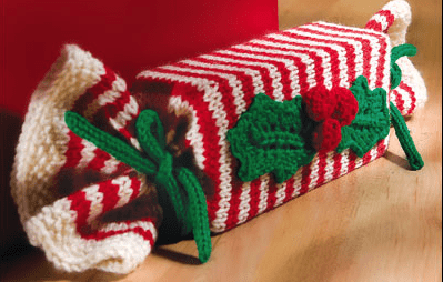 knit, christmas, wrap, knitted, candy cane, stripes, wrapping