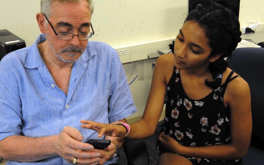 Teens Teach Seniors Technology