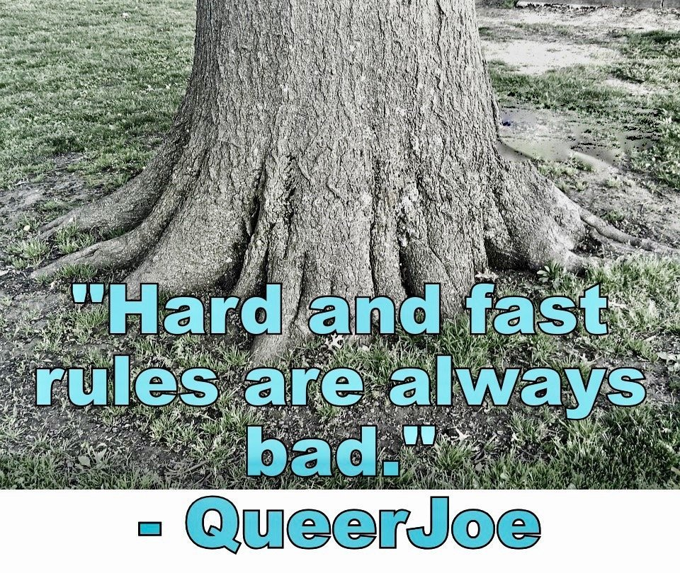 Hard and Fast Rules Meme with Tree Root