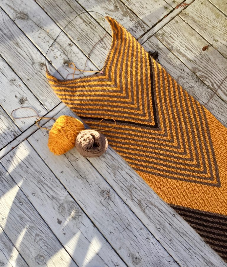 Biased Striped Stole 04-01-19 02