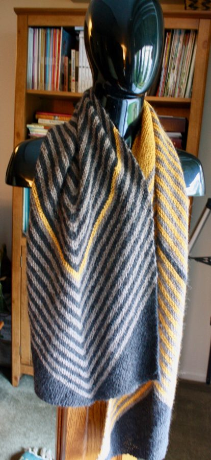 Biased Striped Stole 04-03-19 04