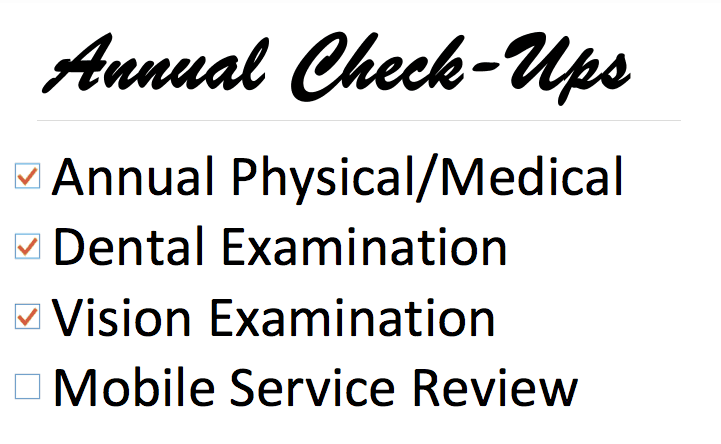 Annual Check Up To-Do List