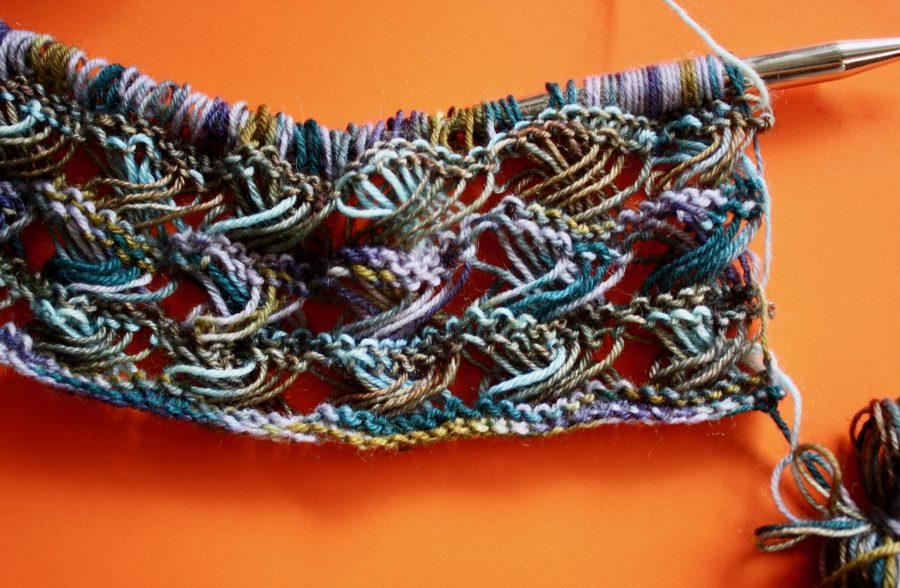 Knitted Cross Stitch Scarf 08-16-19 02