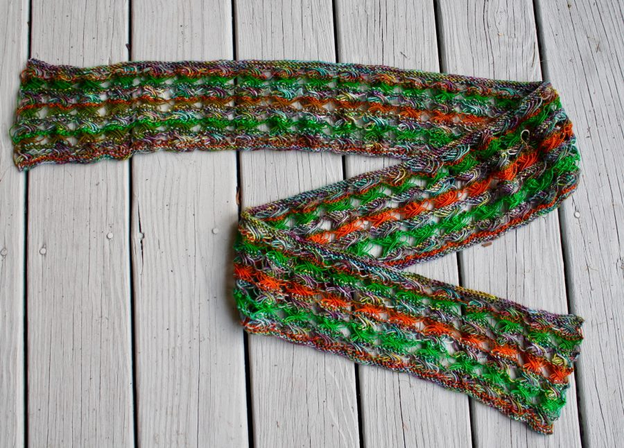 Knitted Cross Stitch Scarf 09-23-19 01