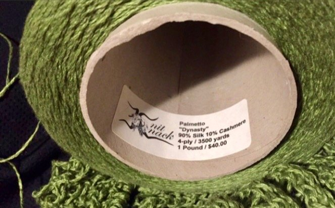 See Grass Shawl Yarn Label