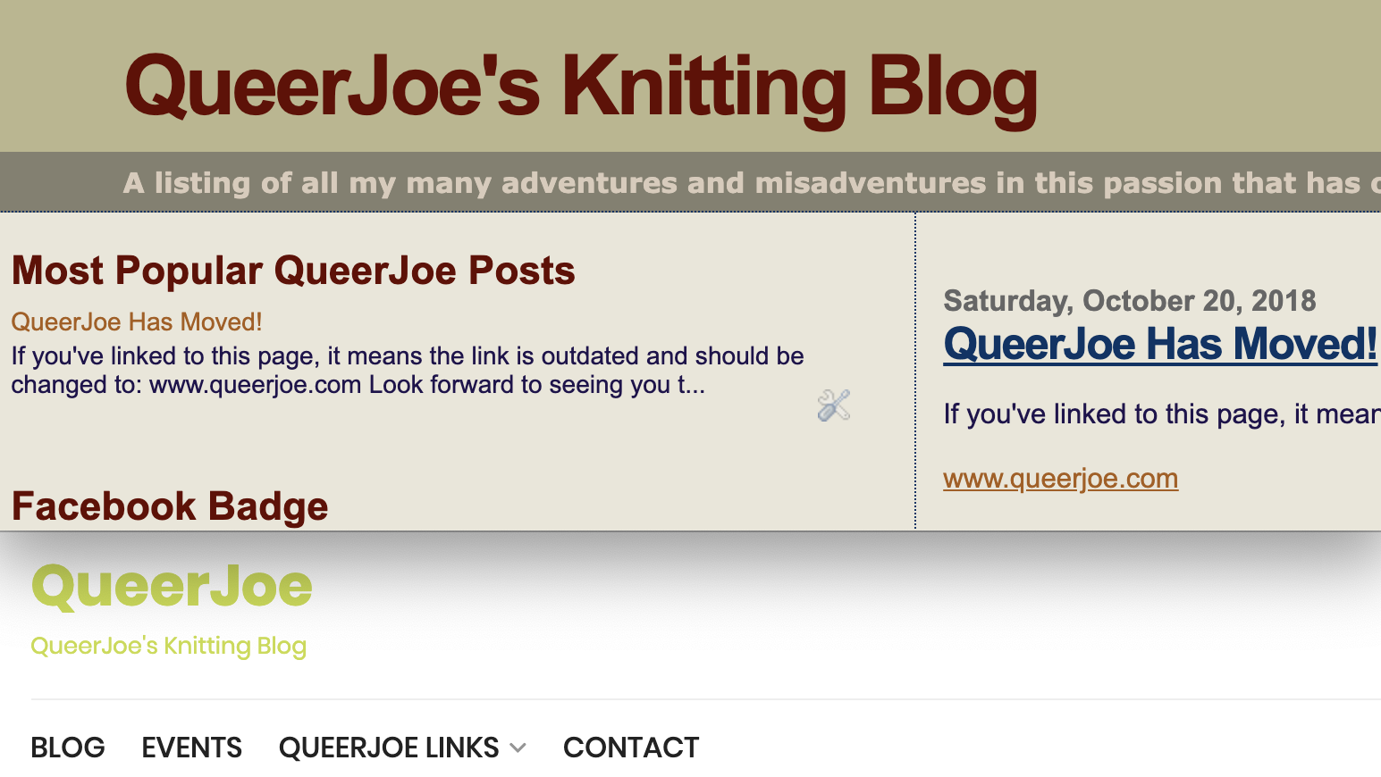 Anniversaries - QueerJoe Old and New Headers