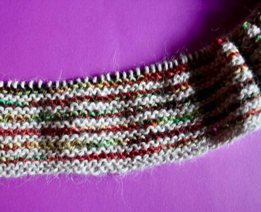 Garter Striped Scarf 11-13-19 03