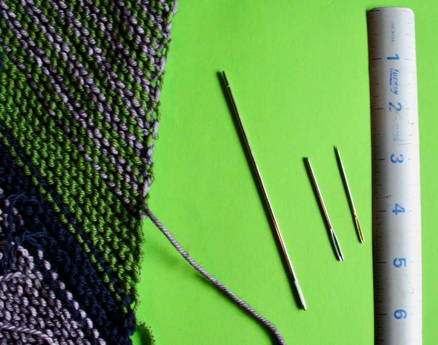 Darning Needles Weaving In Ends 12-12-19