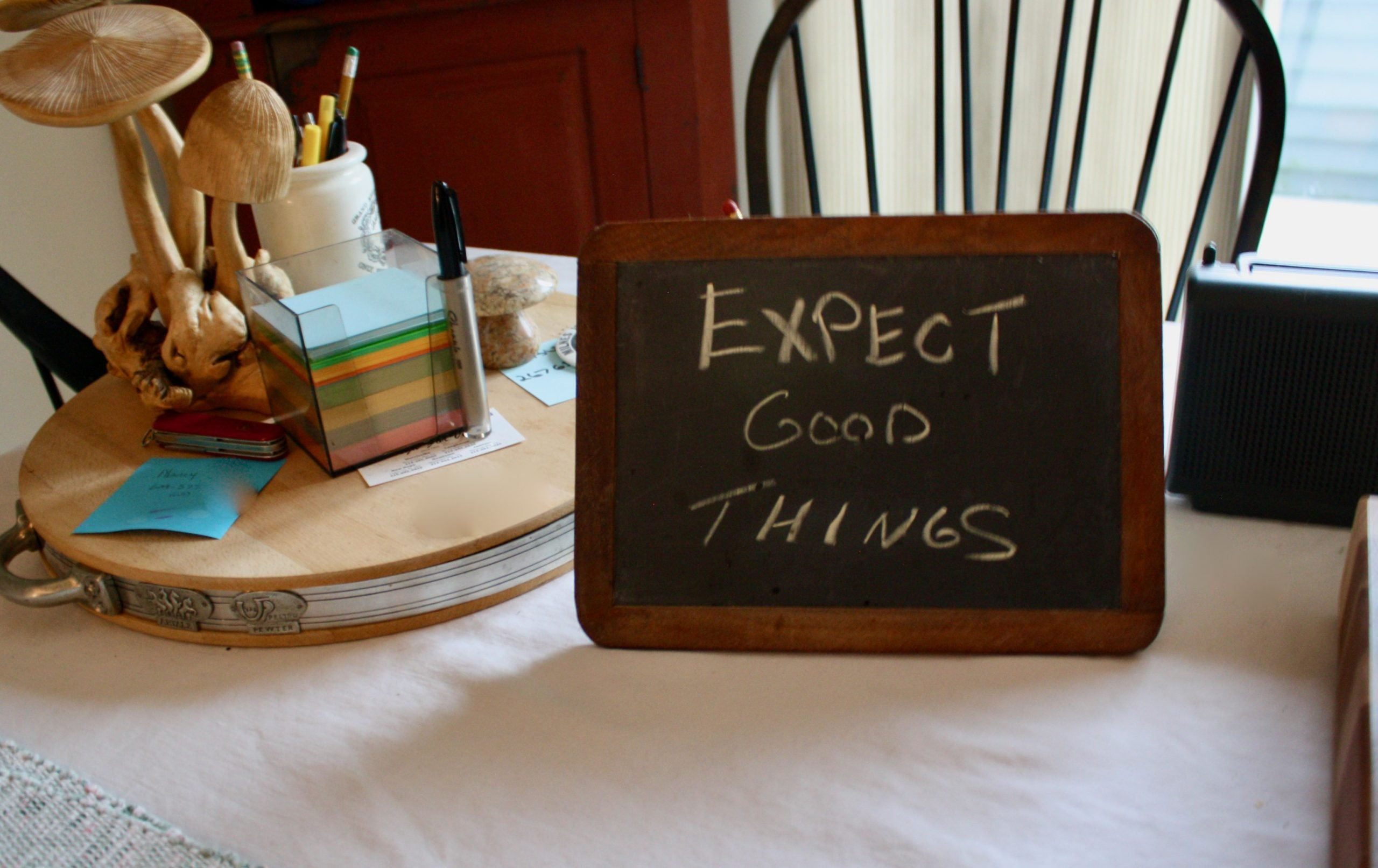 Expect Good Things Chalkboard Affirmations