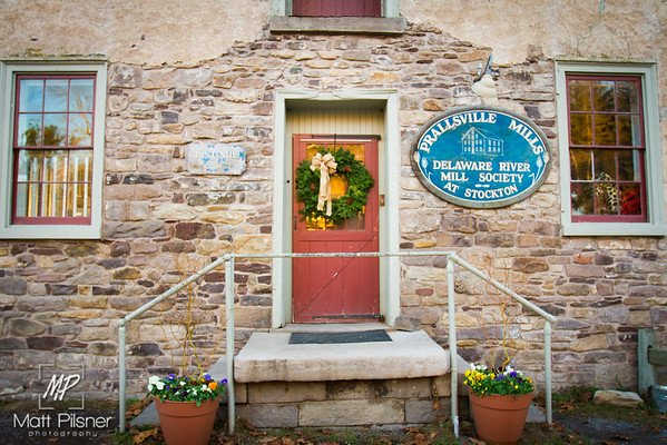 Prallsville Mill Wreath Front Door