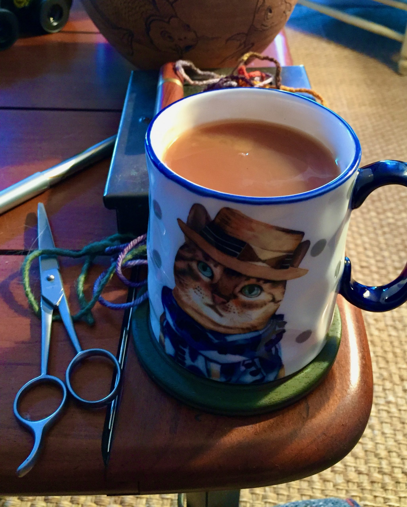 Tea Drinker Tea with milk in a Cat Mug 12-20-19