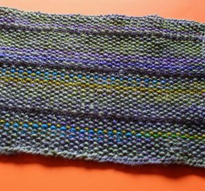 Linen Stitch Scarf Reverse