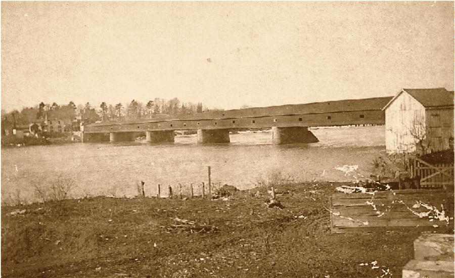 Historic New Hope - Second Wooden Covered Bridge 1941-1903 New Hope Lambertville