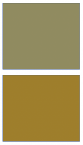 Vivid Colors - Gray Green and Antique Gold Swatches