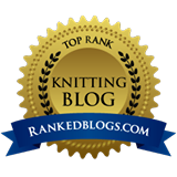Top-Ranked Knitting Blog Badge