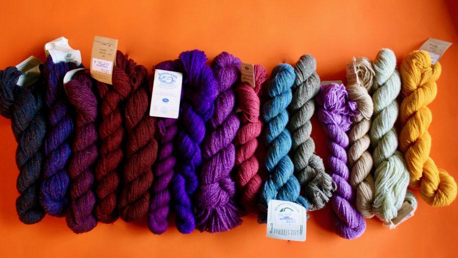 Shetland Yarn Various Colors Sorted by Eye