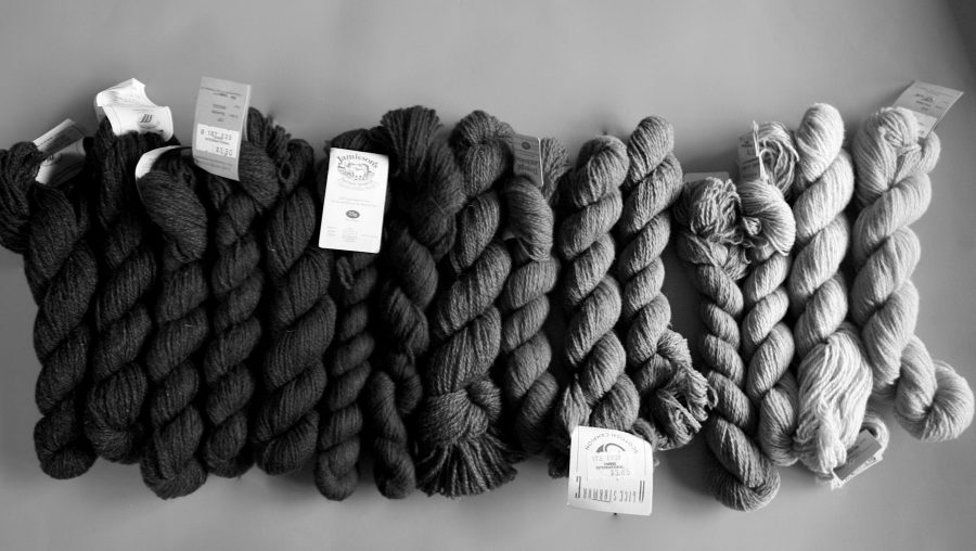 Shetland Yarn Various Colors to Black and White