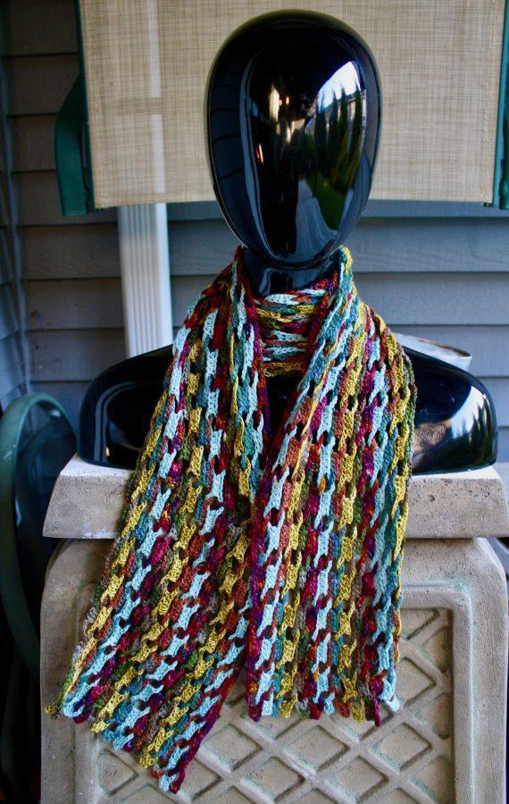 Interlocking Crochet Scarf 04-02-20 01