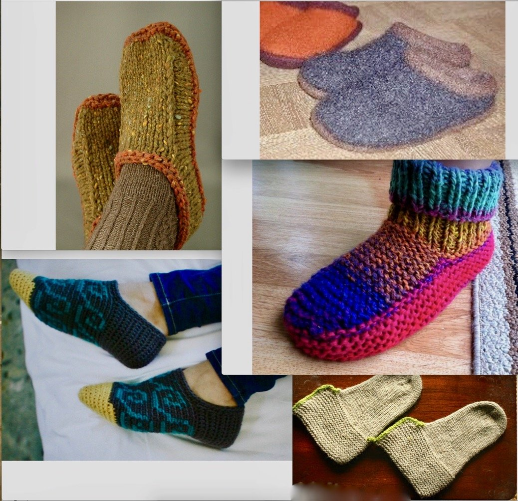 Slippers Footies and Bed-Socks