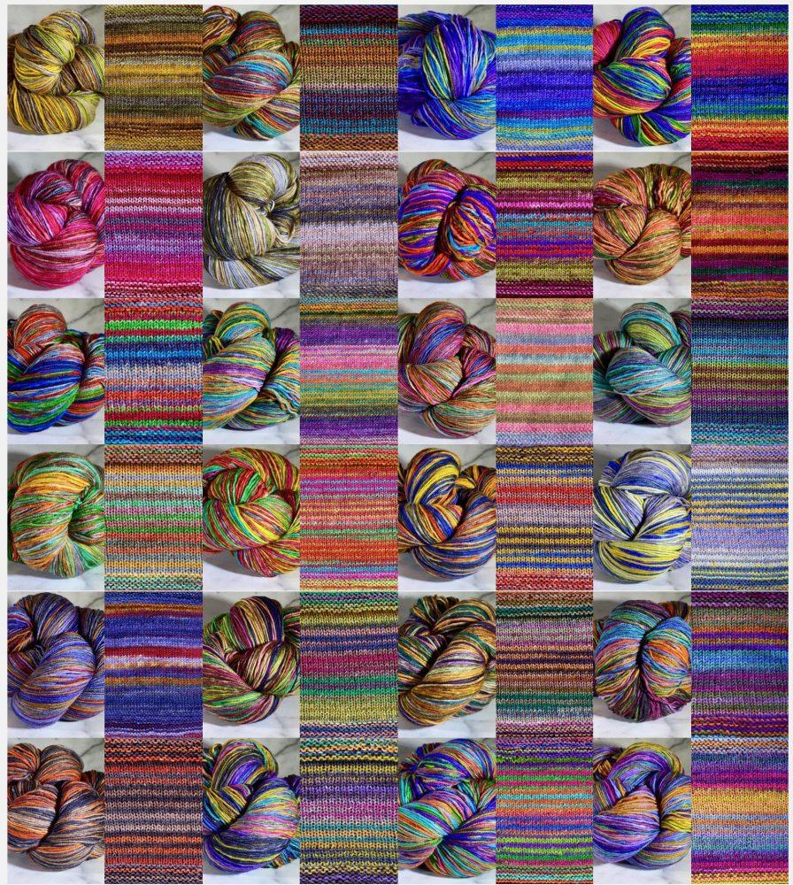 Choosing Colorways - Uneek Fingering Superfine Merino The Perfect Purl