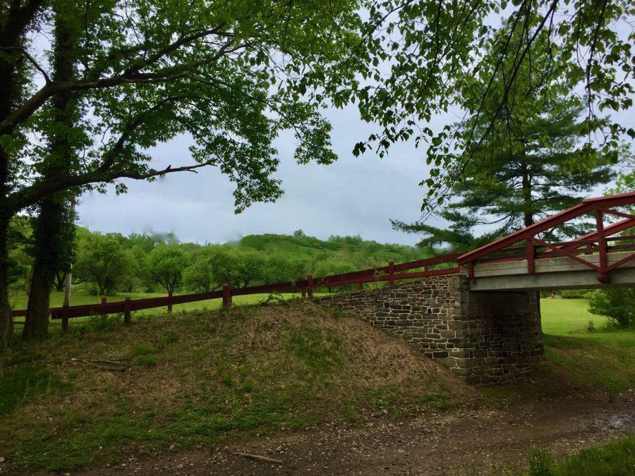 Bucks County PA Towpath Walking Bridge over Canal