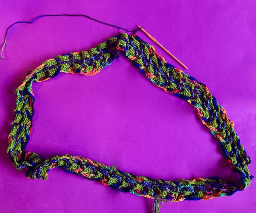 Interlocking Crochet Infinity Scarf 07-22-20 01