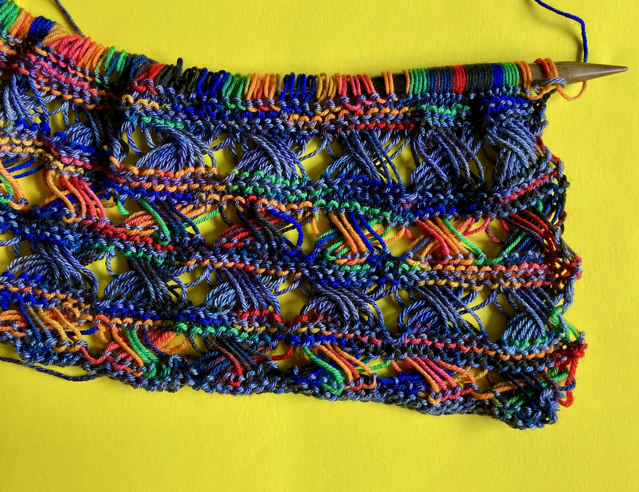 Old Reliable - Knitted Cross Stitch Scarf 07-03-20 02