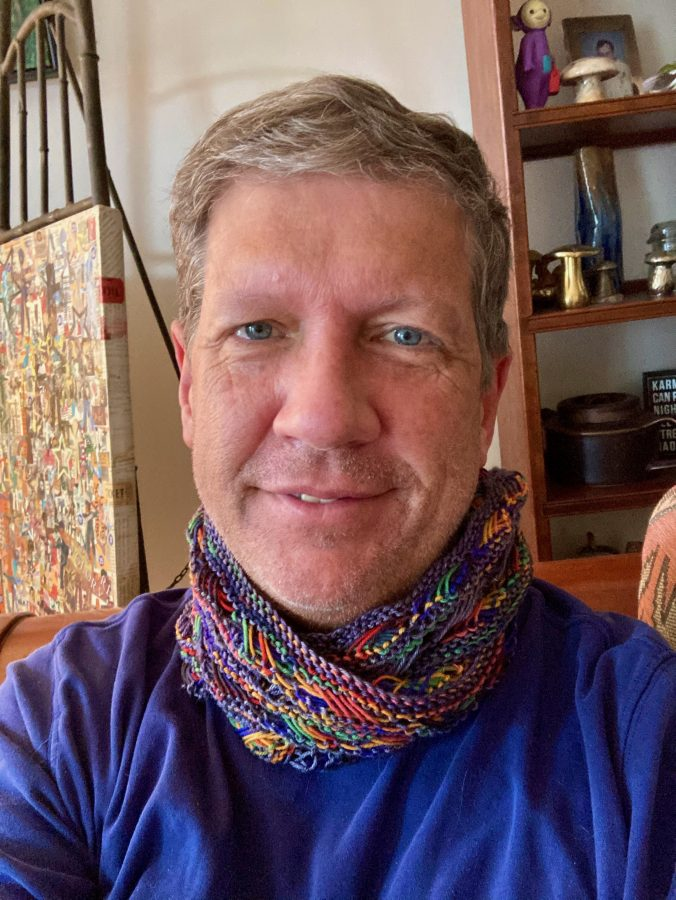 Knitted Cross Stitch Scarf - QueerJoe 07-04-20 01