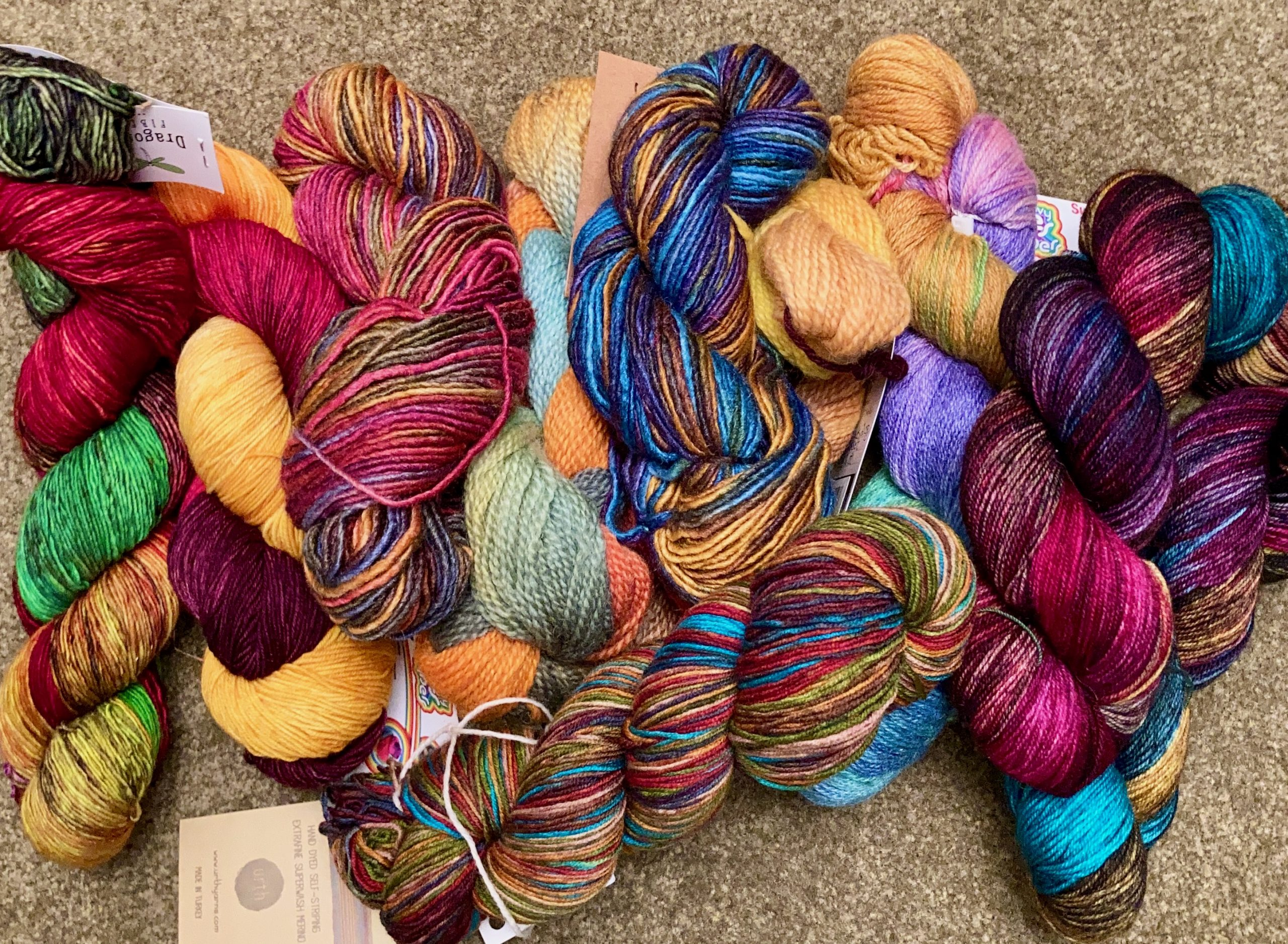Color Haunts Me - Colorful Fingering Weight Yarns