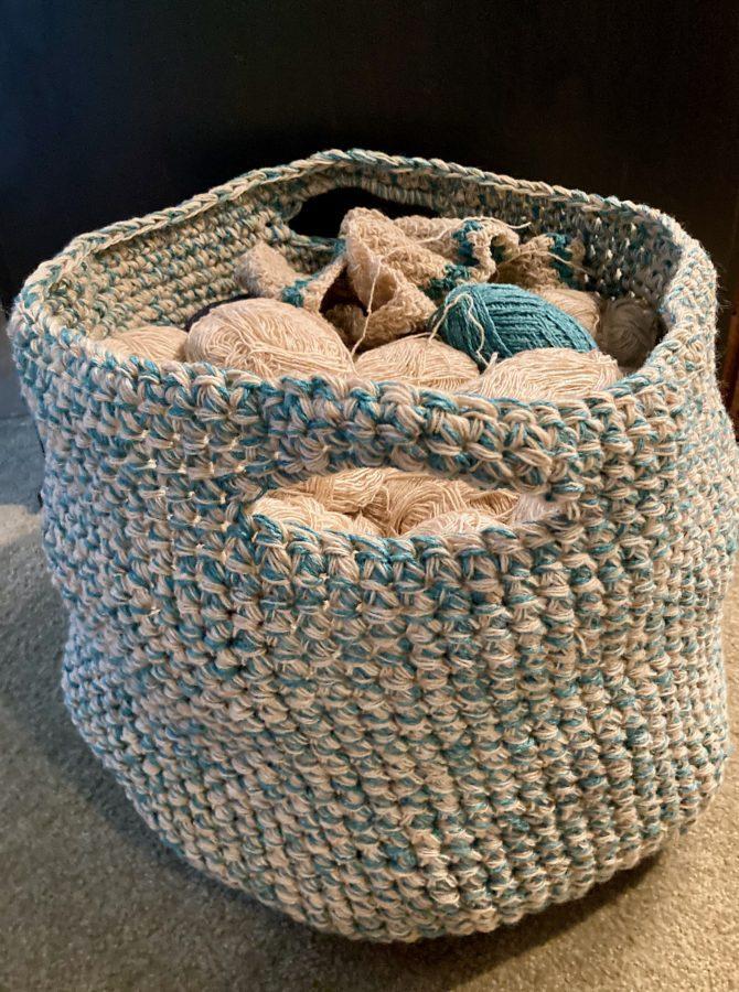 Bulky Crochet Basket Bag 09-11-30 02
