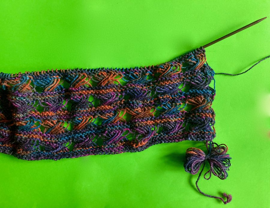 Knitted Cross Stitch Scarf 09-21-20 02