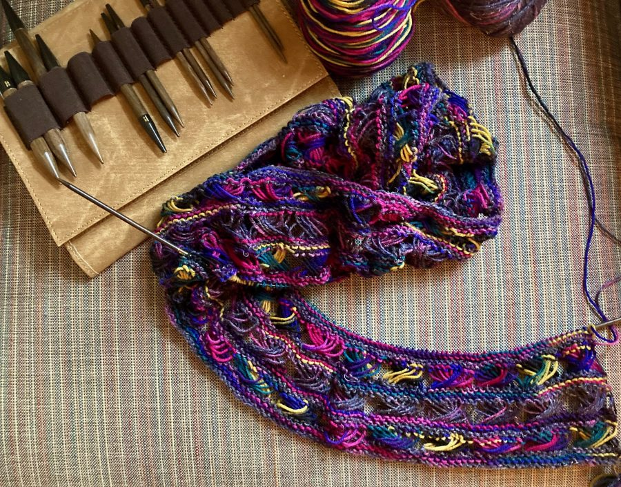 Knitted Cross Stitch Scarf 09-30-20 01