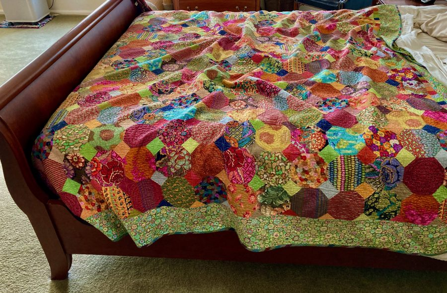 Kaffe Quilt On Bed