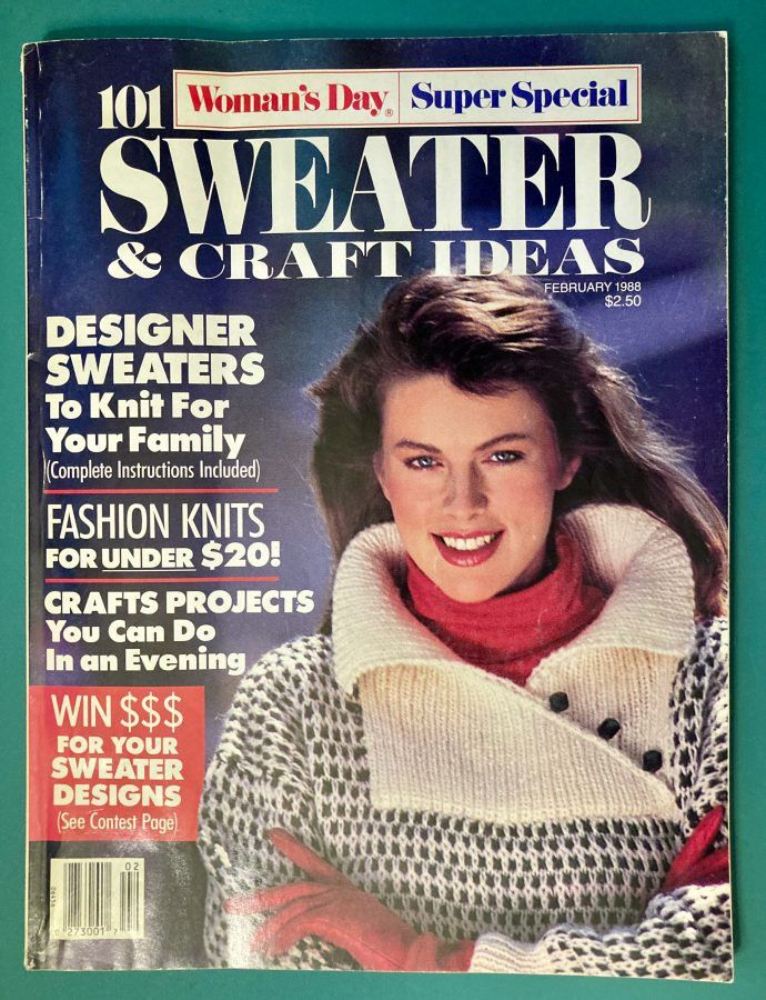 Womens Day Magazine Sweater and Craft Ideas Speacial Isuee February 1988