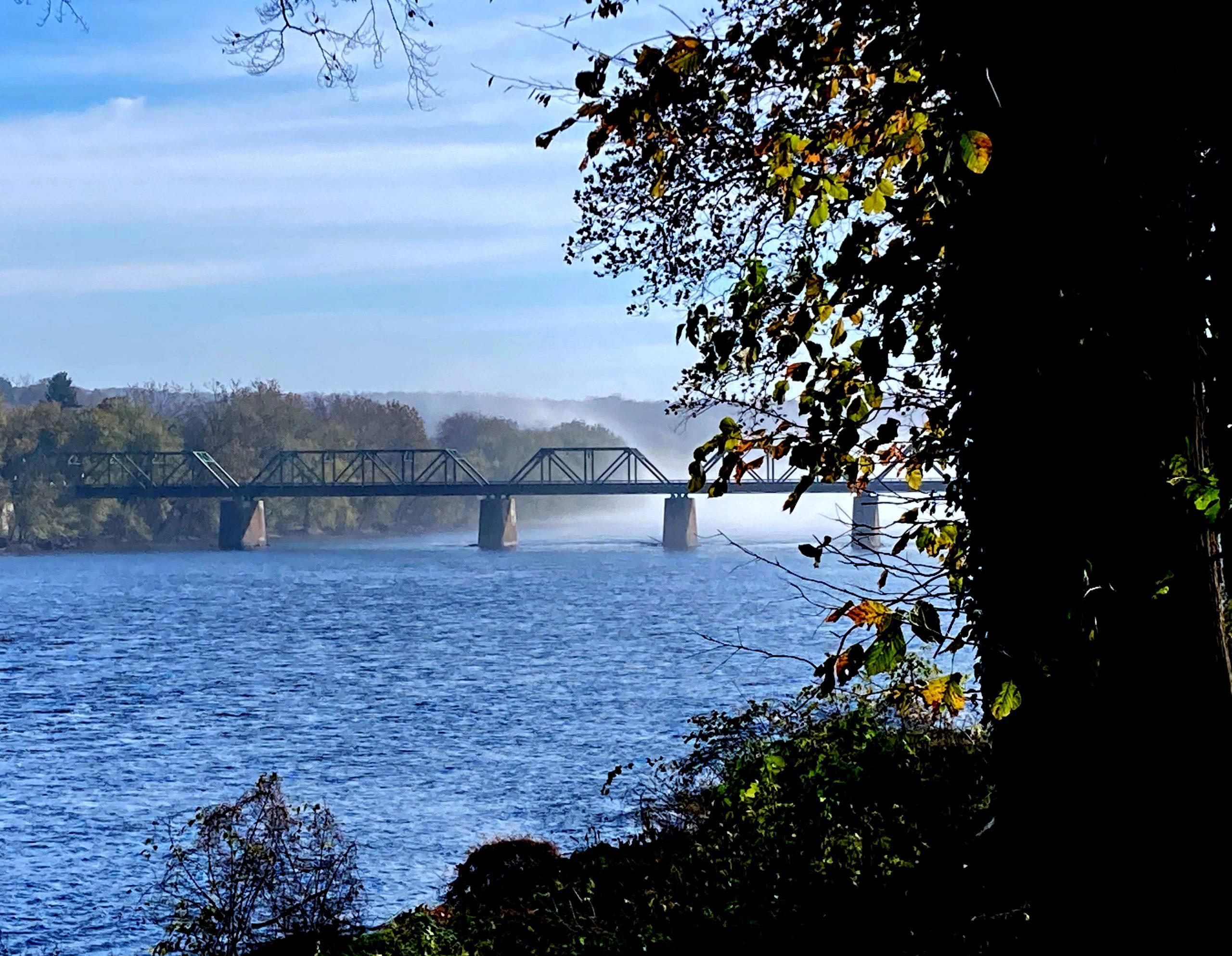 Thanks Giving - Delaware River 11-01-20 01 Center Bridge Stockton Bridge with mist 02