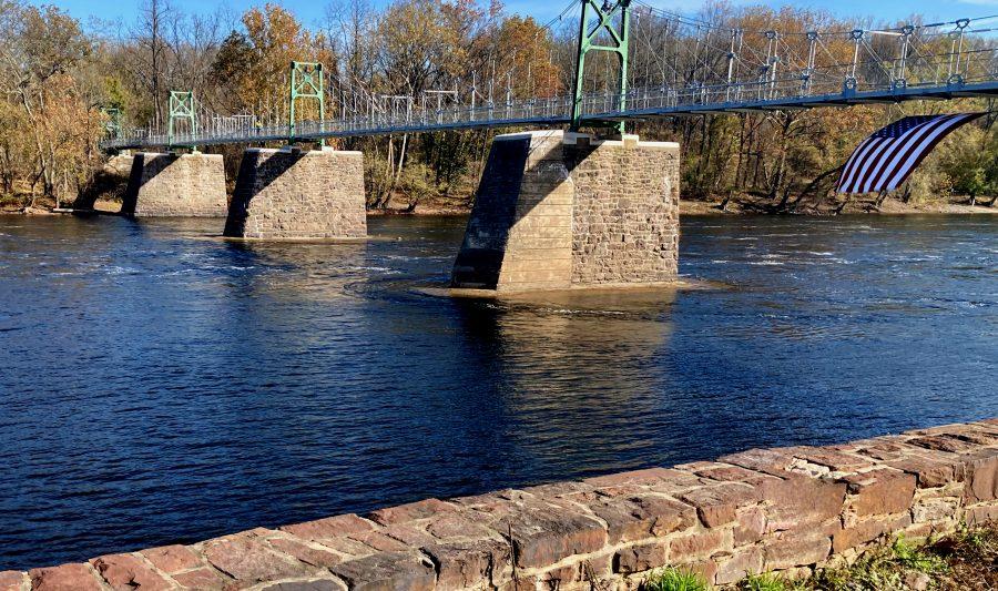 Delaware River Lumberville Pedestrian Bridge 11-01-20 12