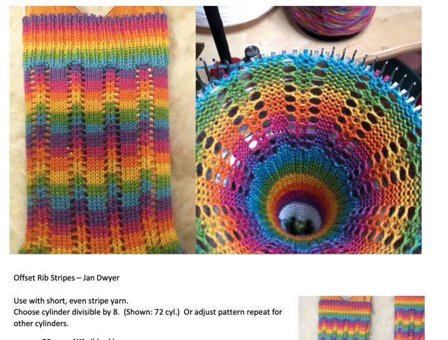 Offset Stripe CSM Sock Pattern by Jan Dwyer