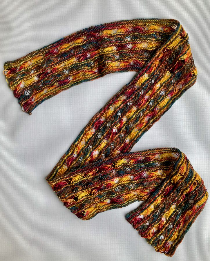 Knitted Cross Stitch Scarf 01-25-21 01