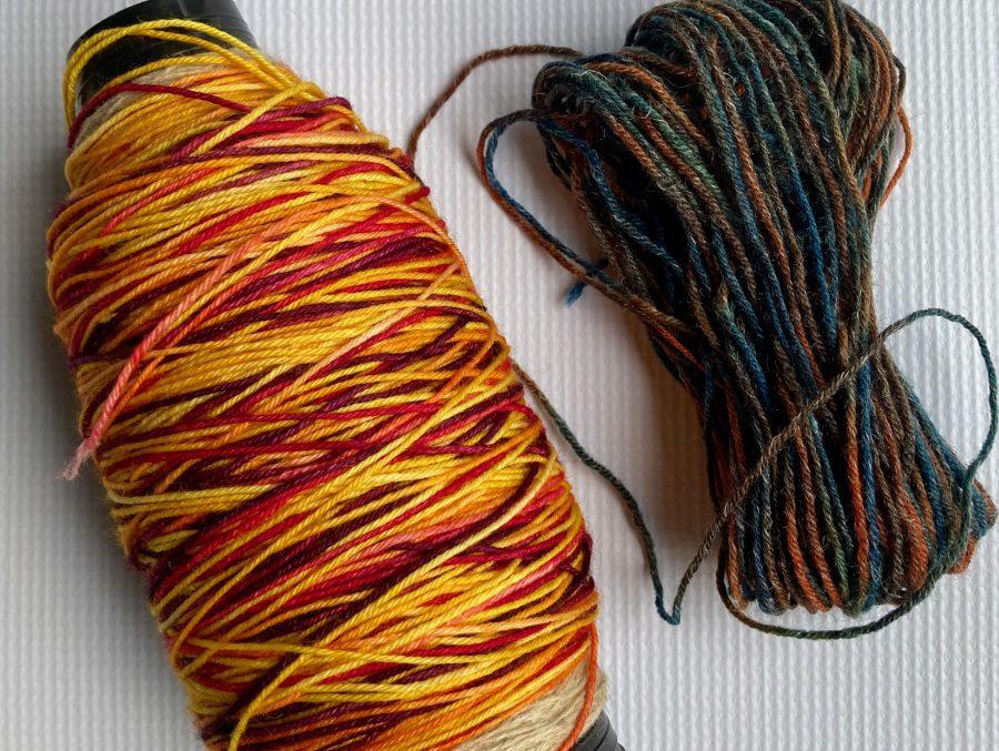 Knitted Cross Stitch Scarf 01-25-21 Yarn 01