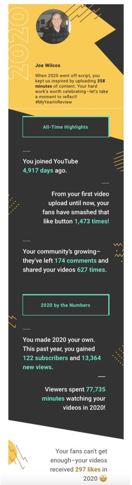 Level Up On YouTube - YouTube 2020 Summary