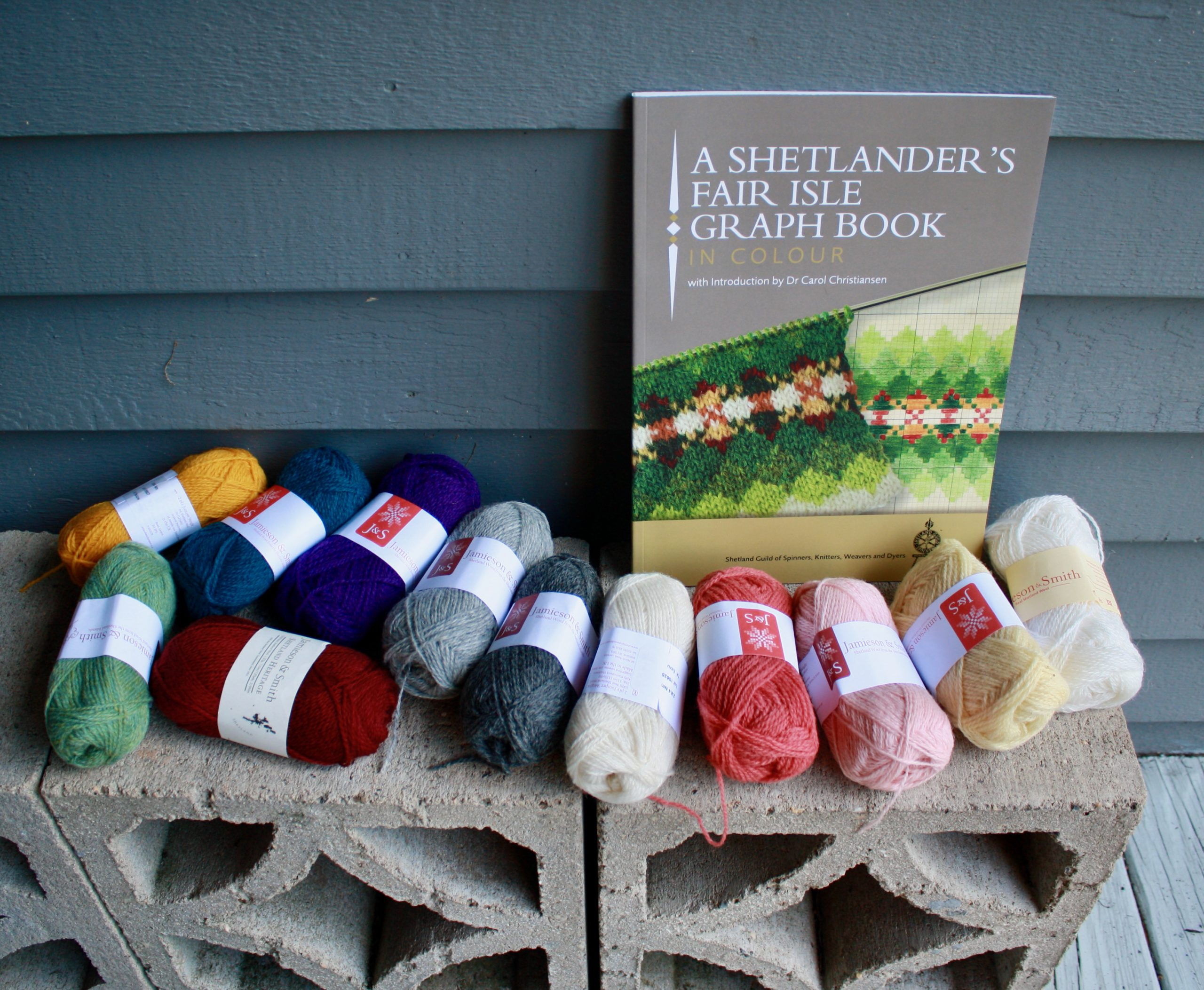 A Belated Birthday Gift - A Shetlanders Fair Isle Graph Book and JS Yarn 04-16-21 01