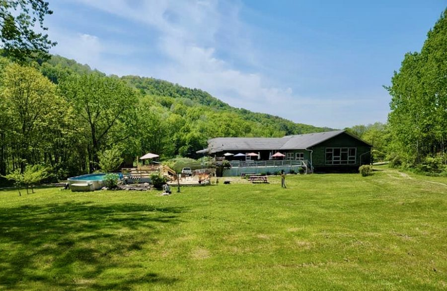 MSKR 2021 - Easton Mountain Pool and Lodge from Behind