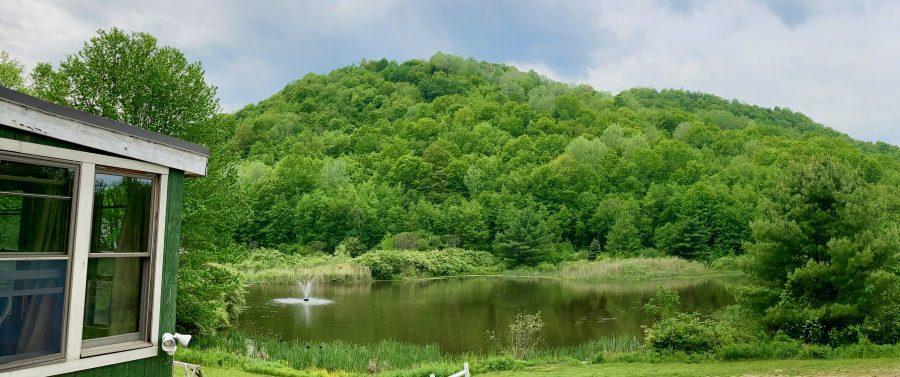 MSKR 2021 - Easton Mountain Porch view of pond and mountain