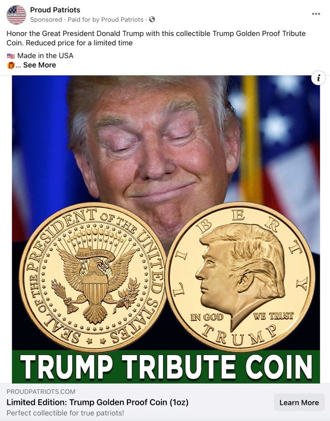 Trump Tribute Coin Ad