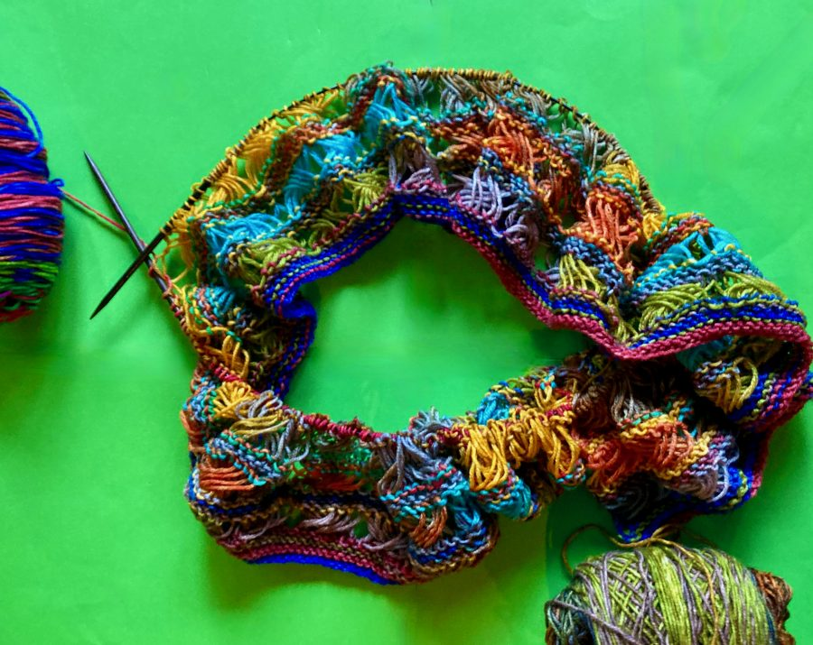 Knitted Cross Stitch Scarf 09-10-21 01