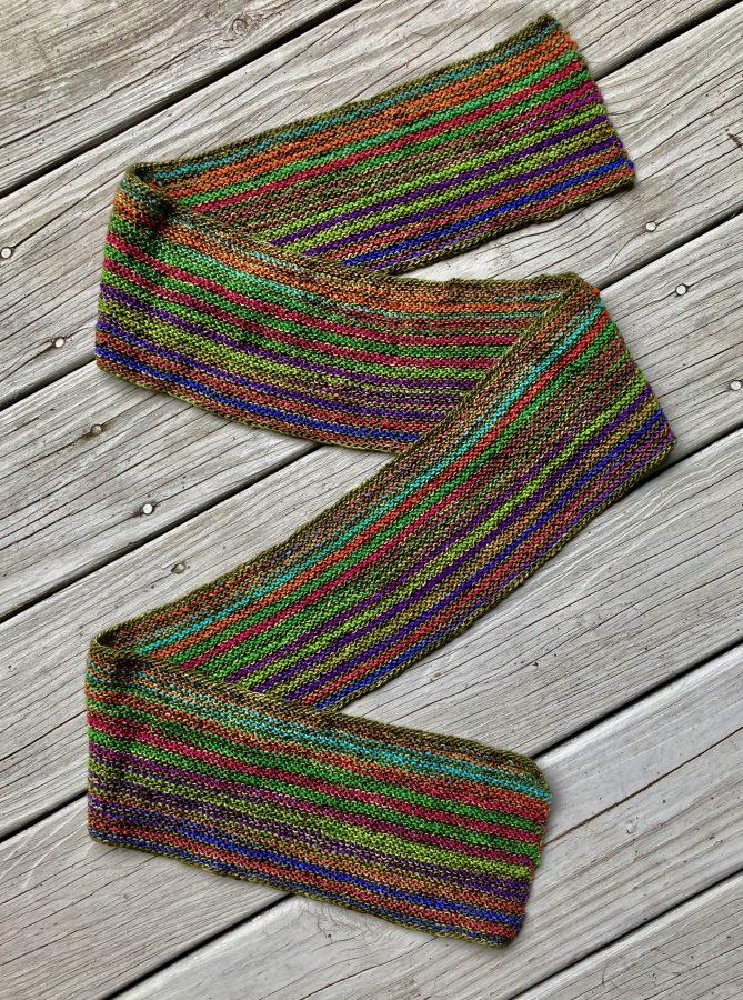 Garter Striped Scarf 10-04-21 01