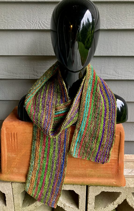 Garter Striped Scarf 10-04-21 02