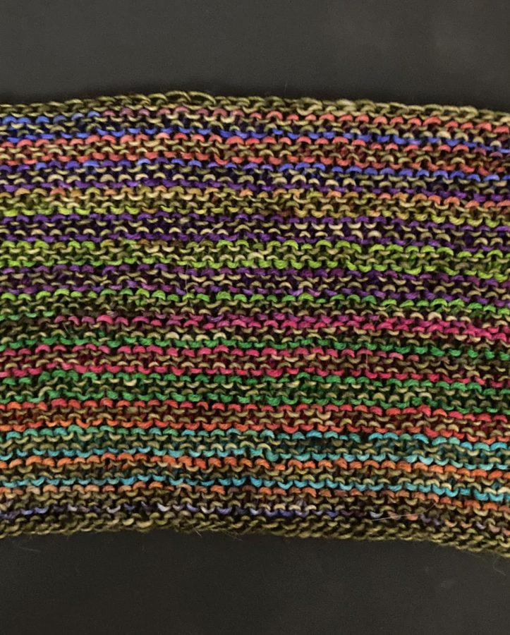 Garter Striped Scarf 10-04-21 05